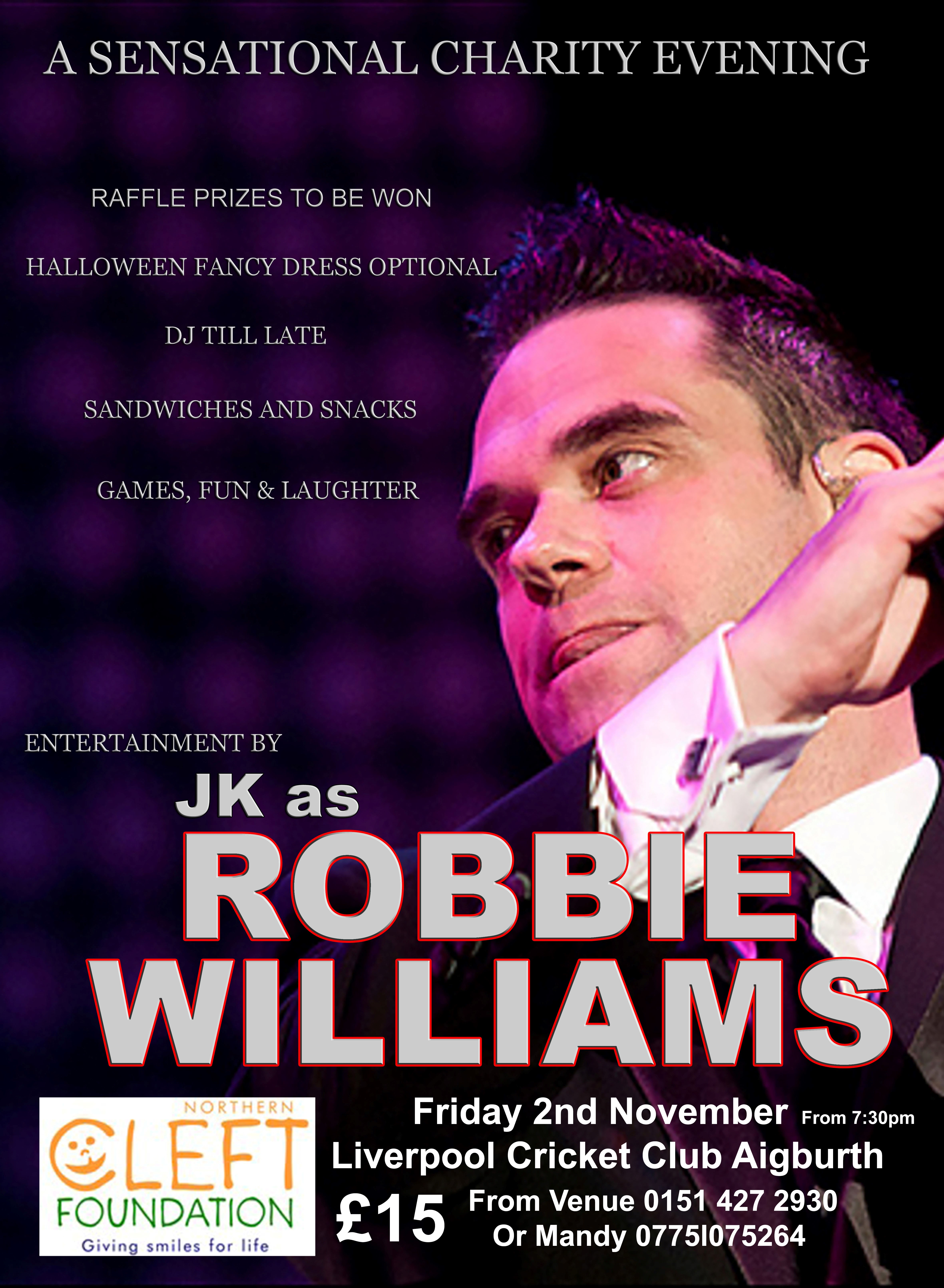 Charity Night - Robbie Williams Tribute Act
