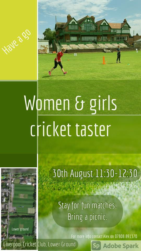 Women and Girls Cricket Taster